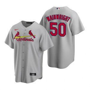 St. Louis Cardinals Adam Wainwright Jersey Gray